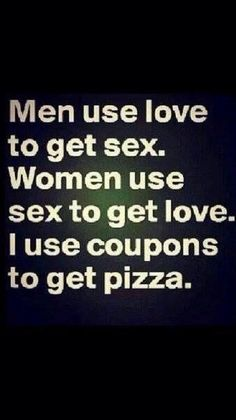 I use coupons to get pizza.