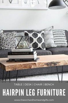 Create a cosy living room setting with this selection of unique reclaimed wood Hairpin Tables, Barstools and Storage ideas Bespoke Furniture, Unique Furniture, Shabby Chic Furniture, Living Room Sets, Living Room Decor, Bedroom Decor, Warehouse Apartment, Shabby Chic Garden, Hall Design