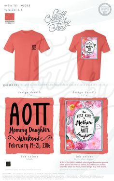 Alpha Omicron Pi | AOII | Mother's Weekend | Mom's Day | Mother Daughter Weekend | The Best Kind of Mother Has An AOII Daughter | South by Sea | Greek Tee Shirts | Greek Tank Tops | Custom Apparel Design | Custom Greek Apparel | Sorority Tee Shirts | Sorority Tanks | Sorority Shirt Designs