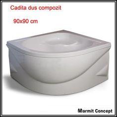 Cadita dus inalta compozit Jena Jena, Bathtub, Bathroom, Faucet, Standing Bath, Washroom, Bath Tub, Bathrooms, Bathtubs