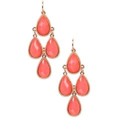 Colored Teardrop Stone Earrings ($6.65) ❤ liked on Polyvore featuring jewelry, earrings, pink, stone earrings, pink dangle earrings, pink jewelry, stone jewelry and bohemian style earrings