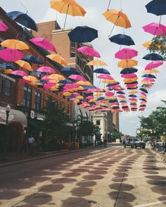 Downtown Wausau Wisconsin a place where art and color thrive!