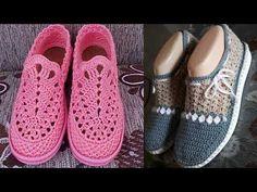 Crochet Sandals, Crochet Shoes, Christening Shoes, Knit Shoes, Crochet Videos, Handicraft, Crochet Baby, Adidas Sneakers, Espadrilles