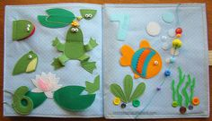 Frogs and fish counting pages.