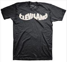 Cleveland Movember Mustache T-Shirt #cleveland #mustache www.freshbrewedtees.com