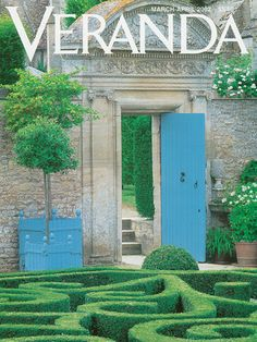 Veranda's Covers Through The Years - Veranda.com. Looks like you would encounter a white rabbit and a tea party on the other side of this door.