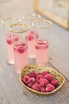 frozen raspberries...