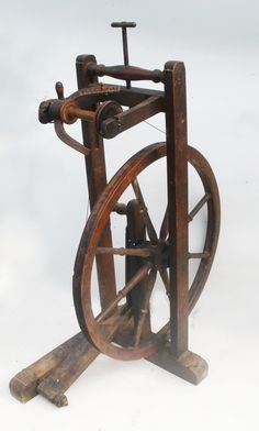 Details About Antique Primitive Castle Style Spinning Wheel Flax Or Wool 19th Century Works