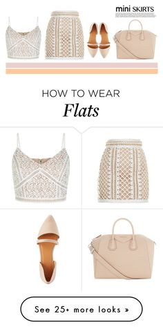 """""""Mini Me: Cute Skirts"""" by lovedandforgiven on Polyvore featuring Balmain, Charlotte Russe, Givenchy and MINISKIRT"""