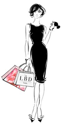 Classic LBD by Kerrie Hess Illustration