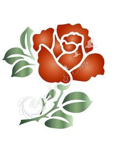 Rosa Stencil, Stencil Art, Flower Stencils, Stencil Patterns, Stencil Designs, Mosaic Patterns, Celtic Love Symbols, Flower Prints, Flower Art