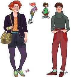 Eles cresceram! Personagens de desenhos animados desenhados como adultos   Ana Pimentinha
