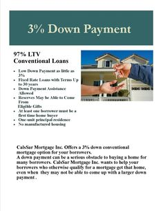 3% Down Payment !!! Purchase specialist Always at your service, Anytime !!! Excellent services since 1987! Jasmen Vartanian (818) 952-2701 Jasmencal@yahoo.com Www.Calstarmortgage.com