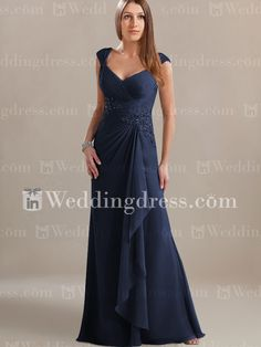 Chiffon Mother of the Groom Dress_Navy    Hmmmm.......maybe.