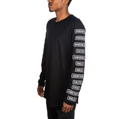 mastermind JAPAN Patches Long Sleeve Tee (Black)