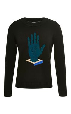 Black Cube Hand Crewneck by Opening Ceremony for Preorder on Moda Operandi