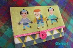 クロスステッチ(水戸黄門) Iron Beads, Japanese Characters, Cross Stitch Embroidery, Coin Purse, Sewing, Crochet, Base, How To Make, Shopping