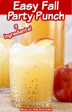 Easy Fall Party Punch is a simple 3 ingredient drink for parties, celebrations and special occasions. Packed with fall flavors. Serve it chilled, over ice or at room temperature and it's easy to make ahead. So nice for entertaining! Wedding Punch Recipes, Fall Punch Recipes, Party Punch Recipes, Adult Punch Recipes, Holiday Recipes, Fall Drinks, Holiday Drinks, Party Drinks, Recipes