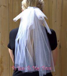 Bachelorette Veil/White Glitter/ Wedding Veil by TURunTUPlayTutus on Etsy White Tulle, White Glitter, Bachelorette Veil, Big Night, Glitter Wedding, Wedding Veil, Big Day, Hair Clips, Your Hair