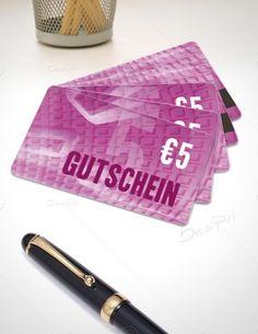 5 Euro Gutschein - Plastikkarten - Gutscheinkarten mit Magnetstreifen, PK-FP-0001   Gutscheine   Plastikkarten   Werbedesigns   Despri