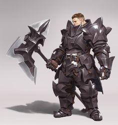 w på (male) character art i 2019 fantasy Fantasy Character Design, Character Concept, Character Art, Armadura Medieval, Fantasy Armor, Medieval Fantasy, Dnd Characters, Fantasy Characters, Armor Concept