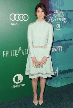 Lizzy Caplan wears ELIE SAAB Resort 2015 to the 2014 'Variety Power Of Women' event In LA.