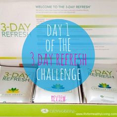 3 Day Refresh - Day 1 Review and Recap - What my meals that I ate consisted of and what I think of the program so far. #3dayrefresh