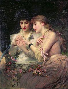 Secret Lesbians - James Sant (1820–1916),  A Thorn Amidst Roses, 1887.
