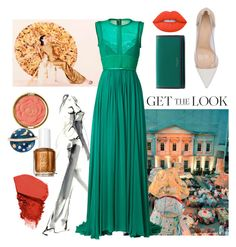 """""""Get the Look: Met Gala 2016"""" by autumnmagic ❤ liked on Polyvore featuring GALA, Elie Saab, Gianvito Rossi, Marc Jacobs, Jane Iredale, Lime Crime, Milani, Swarovski, GetTheLook and MetGala"""
