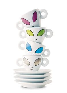 Illy Alien Art Cups