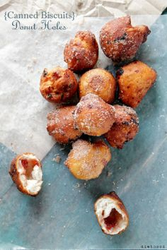 Jelly Donut Holes with Canned Biscuits Dough
