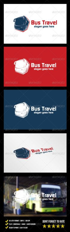 Bus Travel Logo — Vector EPS #transport #auto • Available here → https://graphicriver.net/item/bus-travel-logo/6064108?ref=pxcr