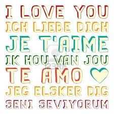 ik hou van jou in verschillende talen