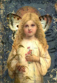 A Pretty Angel for a wonderful angel friend. Blessings.