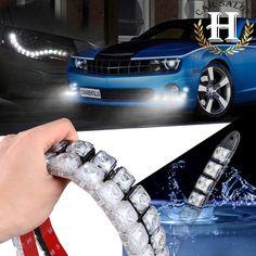 2x COB DRL Que Conduce la Luz de Niebla Del Coche 10 LED Flexible de la Luz Corriente Diurna Para Honda/Toyota/Hyundai/VW/Kia forMazda/Buick/Nissan etc