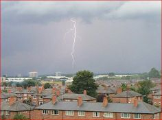 Lightening 1. Newton Heath. Manchester. UK. By Tony Cordingley