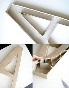 DIY | De grandes lettres lumineuses...en carton !