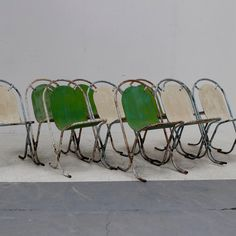 Set of French Bistro Chairs in Seating French Bistro Chairs, Vintage Patio, Architecture, Antiques, Garden, Arquitetura, Antiquities, Antique, Garten