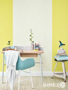 Žlté tapety z katalógu Esprit 12 rozjasnia každý kútik v interiéri. |  DIMEX