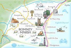 Map of Romney Marsh