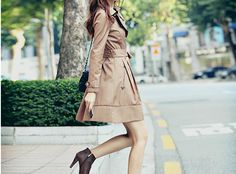 love the trench with ankle booties.