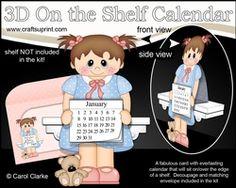 3D On The Shelf Everlasting Calendar Kit - Little Toddler Opal