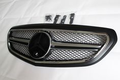 E Class W212 2-Fin Grille fits facelift (Matte Black color). With camera