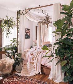 orientalisches Dekor im Boho-Stil - DIY Best Home Deco Dream Rooms, Dream Bedroom, Diy Bedroom, Design Bedroom, Garden Bedroom, Canopy Design, Bedroom Furniture, Gypsy Bedroom, Bedroom Wall