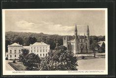 Alte Ansichtskarte: AK Neustrelitz, Schloßkirche und Marienpalais