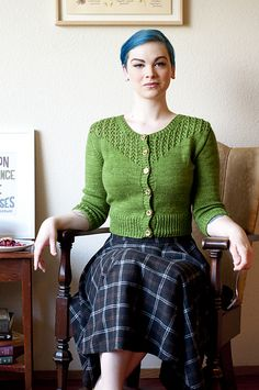 Wear Salal for pie and coffee at the diner with friends or rambling through the woods solo. The graphic lace yoke paired with simple stockinette makes Salal interesting to knit, while the ¾ sleeves and cropped length make it a great layering piece for mild-weather jaunts.