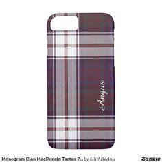 Monogram Clan MacDonald Tartan Phone Case