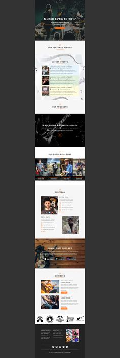 61 Best Beautiful Responsive Newsletter Template Images On Pinterest