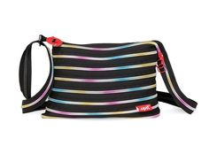 Rainbow zipper colored Zipper Shoulder Bag