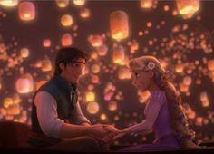 Tangled - Rapunzel and Flynn Rider Lanterns Anna Disney, Disney Amor, Disney Rapunzel, Tangled Rapunzel, Princess Rapunzel, Disney Couples, Cute Disney, Rapunzel Movie, Disney Princesses